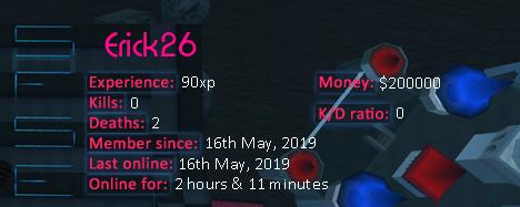 Player statistics userbar for Erick26