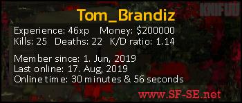 Player statistics userbar for Tom_Brandiz