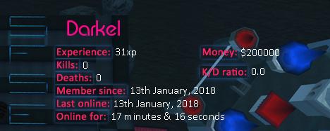 Player statistics userbar for Darkel