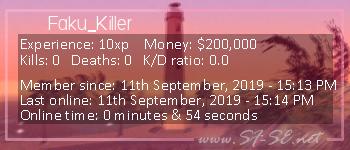 Player statistics userbar for Faku_Killer