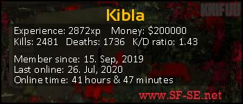 Player statistics userbar for Kibla