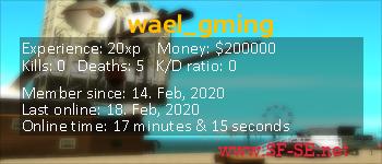 Player statistics userbar for wael_gming