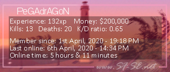 Player statistics userbar for PeGAdrAGoN
