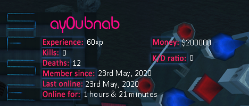 Player statistics userbar for ay0ubnab
