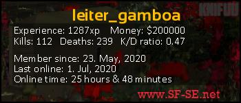 Player statistics userbar for leiter_gamboa