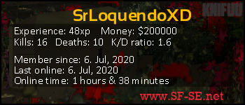 Player statistics userbar for SrLoquendoXD