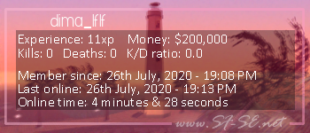 Player statistics userbar for dima_lflf