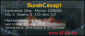 Player statistics userbar for BurekCevap1
