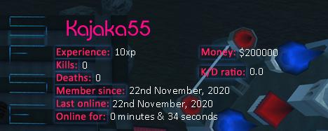 Player statistics userbar for Kajaka55