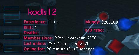Player statistics userbar for kodls12