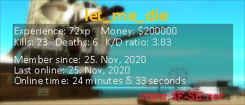 Player statistics userbar for let_me_die