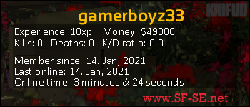 Player statistics userbar for gamerboyz33