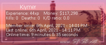 Player statistics userbar for Kiymer