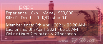 Player statistics userbar for jejejeje