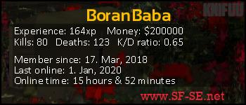 Player statistics userbar for BoranBaba
