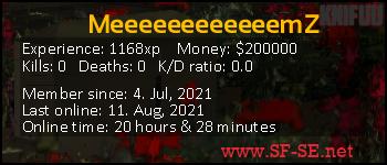Player statistics userbar for MeeeeeeeeeeeemZ