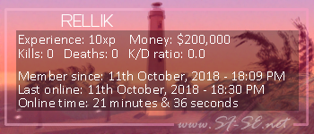 Player statistics userbar for RELLIK