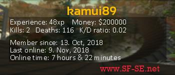 Player statistics userbar for kamui89