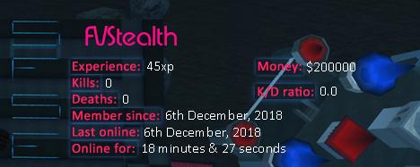 Player statistics userbar for FVStealth