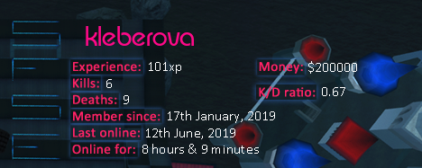 Player statistics userbar for kleberova