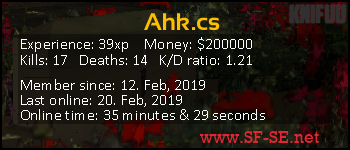 Player statistics userbar for Ahk.cs